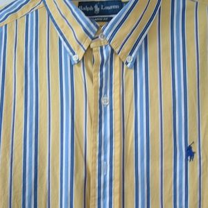 Men's Ralph Lauren Polo Shirt Button down LS